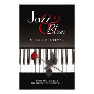 Jazz Blues Music Festival Concert flyer