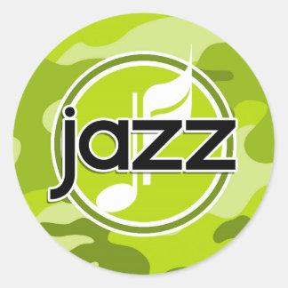 Jazz bright green camo camouflage stickers