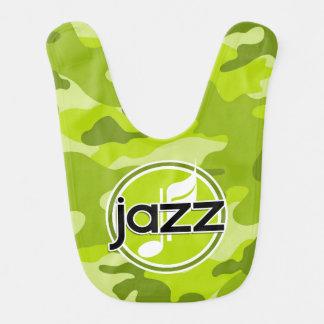 Jazz bright green camo camouflage bibs