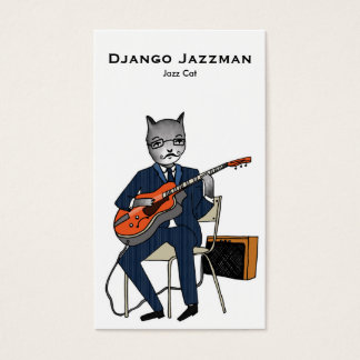 Jazz Cat Business Card