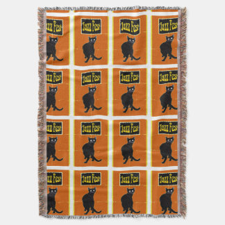 Jazz Cat Throw Blanket