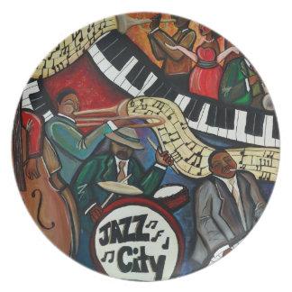 Jazz City Plate
