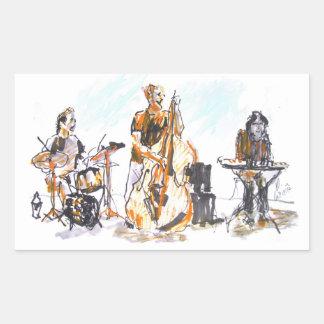 Jazz Concert Trio Rectangular Sticker