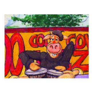 Jazz Cow Postcard