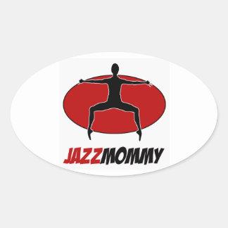 jazz DANCE DESIGNS Oval Sticker