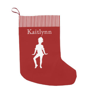 Jazz Dancer in Red and White Small Christmas Stocking