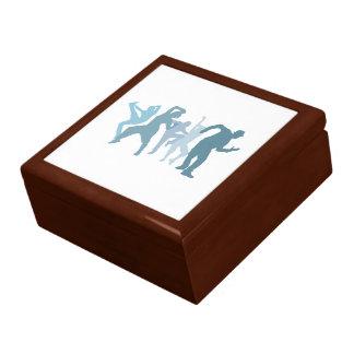 Jazz Dancers Illustration Large Square Gift Box