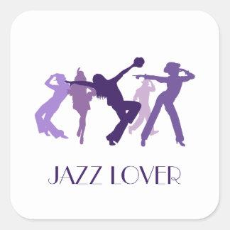 Jazz Dancers Illustration Square Sticker