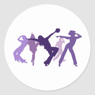 Jazz Dancers Illustration Sticker