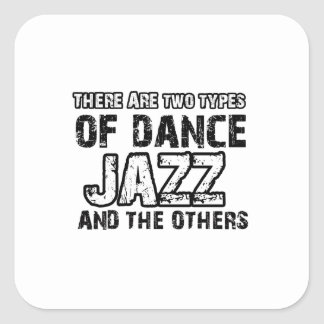 Jazz dancing designs square stickers
