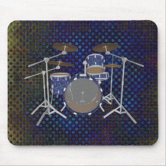 Jazz Drum Kit - Custom Blue Drums - Mousepad
