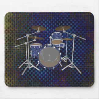 Jazz Drum Kit - Custom Blue Drums - Mousepad