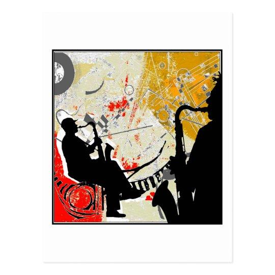 Jazz Dudes Postcard