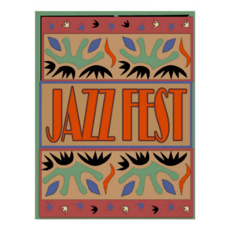 Jazz Fest After Matisse Poster