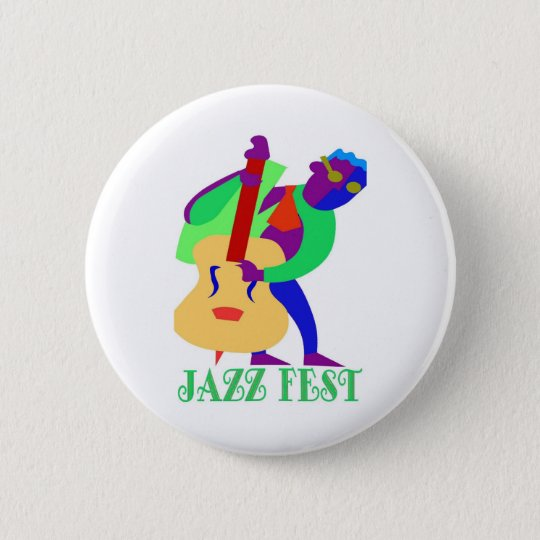 Jazz Fest Blues Man 6 Cm Round Badge