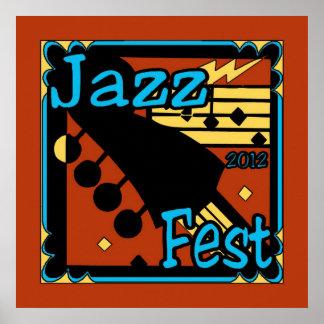 Jazz Fest Guitar 2012 Print