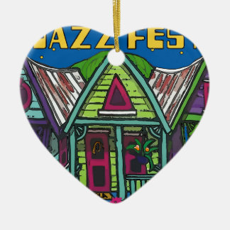 Jazz fest House Christmas Ornament