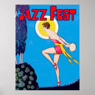 Jazz Fest Moon Dancer Poster