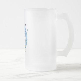 jazz festival design frosted glass mug