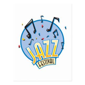 jazz festival design postcard