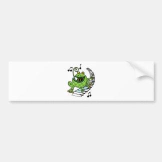 Jazz Frog Bumper Sticker