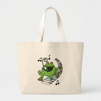 Jazz Frog Large Tote Bag