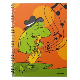 Jazz Frog Notebook