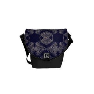 Jazz funk tweed messenger bag