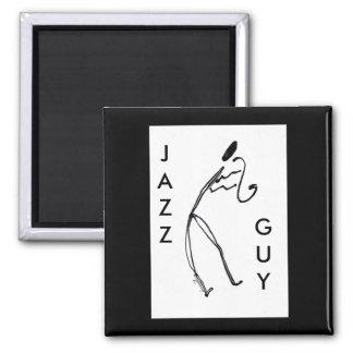 Jazz Guy Square Magnet