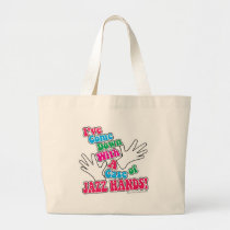 Jazz Hands! Large Tote Bag