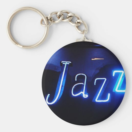 Jazz in Blue supporters Basic Round Button Key Ring