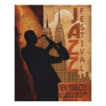 Jazz-in-New York Vintage Poster