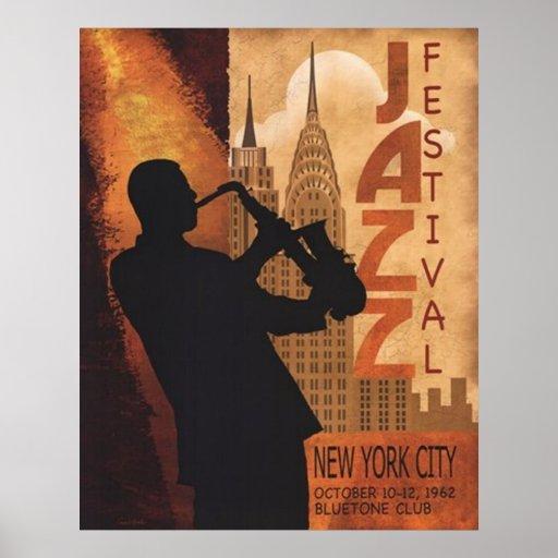 Jazz-in-New York Vintage Poster