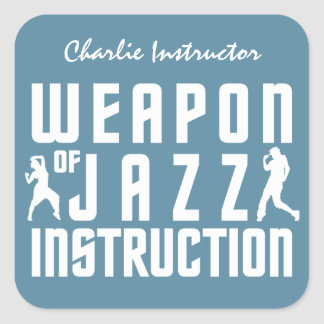 Jazz Instruction custom name & color stickers