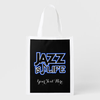 JAZZ IS LIFE custom reusable bag