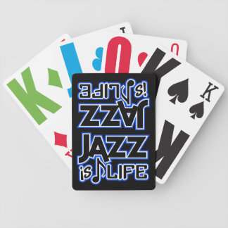 JAZZ IS LIFE playing cards