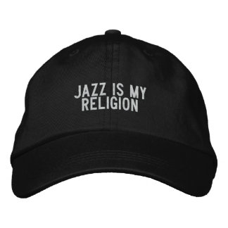 jazz is my religion embroidered hat