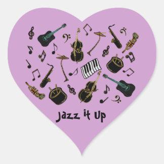 Jazz it Up Heart Sticker