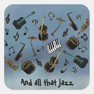 Jazz it Up Square Sticker