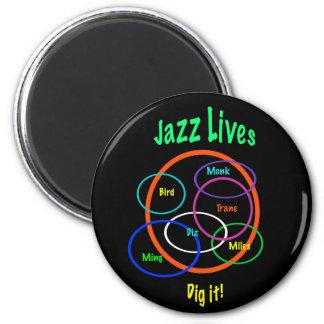 Jazz Lives Magnet