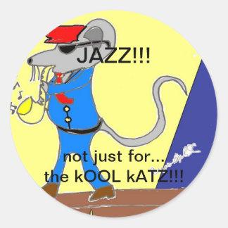 jazz lover designs round sticker