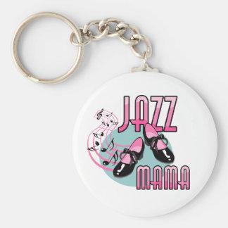 Jazz Mama Tap Dancing Basic Round Button Key Ring