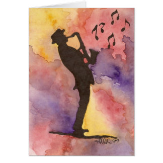 Jazz Man Card