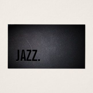 Jazz Music Teacher Modern Bold Black Minimal Business Card