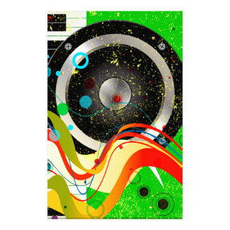Jazz Musical Background Stationery Paper