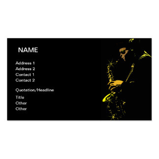 Jazz Musician Double-Sided Standard Business Cards (Pack Of 100)