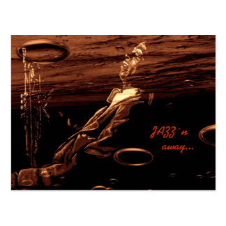 JAZZ´n away… Postcard