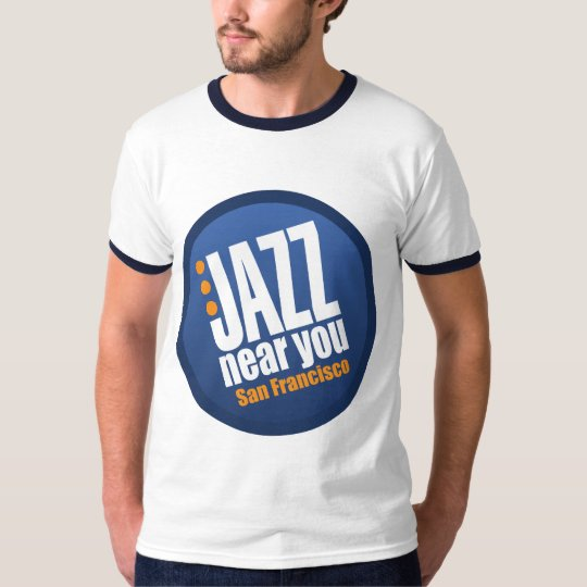 Jazz Near You San Francisco Vintage Ringer T-Shirt