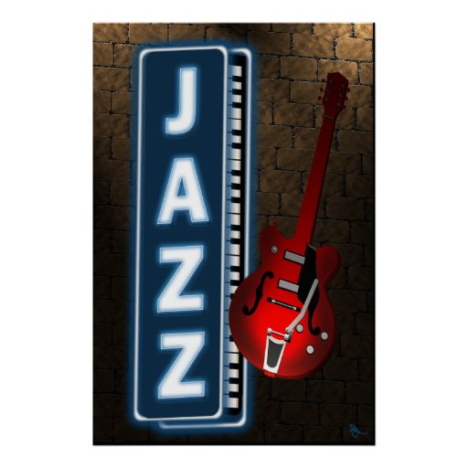 Jazz Neon Sign Poster