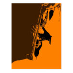Jazz Orange Postcard
